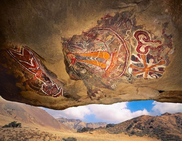 Chumash cave painting, Kern County, CA